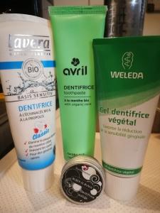 Focus sur quelques dentifrices naturels [edit : 02/09/2018 ]